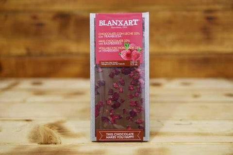 Blanxart Milk Chocolate 33% with Raspberries 100g Pantry > Confectionery