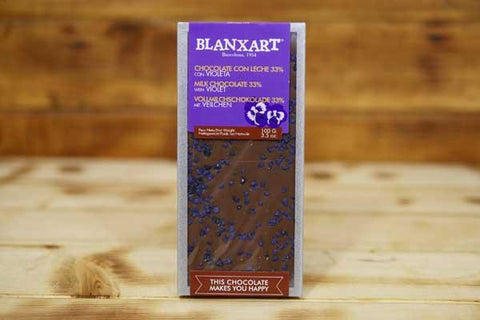 Blanxart Milk Chocolate Violets 100g Pantry > Confectionery
