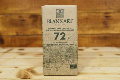 Blanxart Organic Dark Chocolate 72% 100g Pantry > Confectionery
