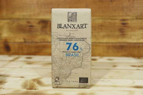 Blanxart Organic Dark Chocolate 76% Cacao Bar 125g Pantry > Confectionery