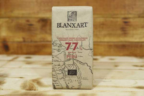 Blanxart Organic Dark Chocolate 77% 125g Pantry > Confectionery