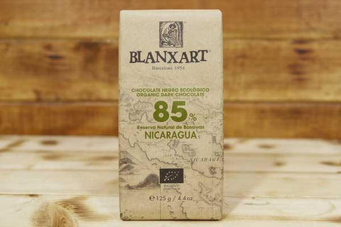 Blanxart Organic Dark Chocolate 85% 125g Pantry > Confectionery