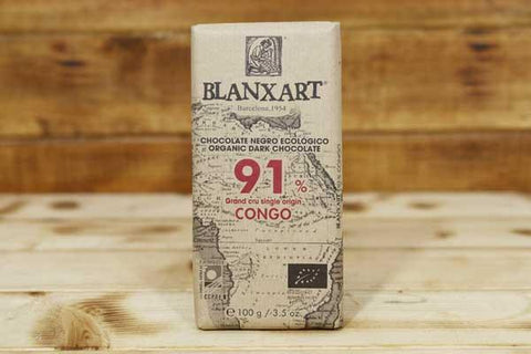 Blanxart Organic Dark Chocolate 91% Cacao Bar 100g Pantry > Confectionery