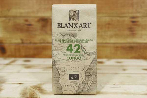 Blanxart Organic Milk Chocolate 42% 125g Pantry > Confectionery