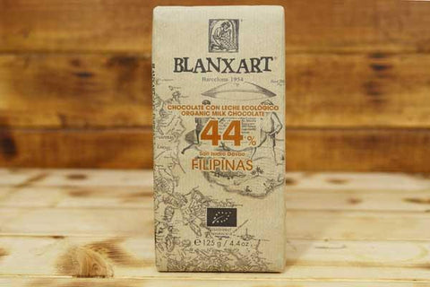 Blanxart Organic Milk Chocolate 44% 125g Pantry > Confectionery
