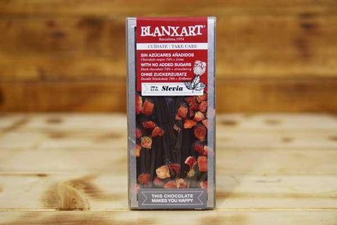 Blanxart Sugar-Free Dark Chocolate 74% Strawberry 100g Pantry > Confectionery