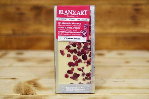 Blanxart Sugar Free White Chocolate with Raspberries Cacao Bar 100g Pantry > Confectionery