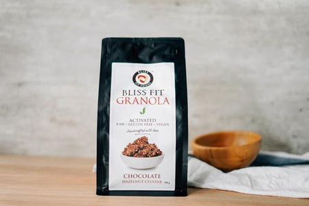Bliss Fit Food Chocolate Hazelnut Cluster Granola 300g Pantry > Granola, Cereal, Oats & Bars