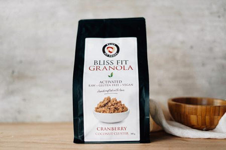 Bliss Fit Food Cranberry Coconut Cluster Granola 300g Pantry > Granola, Cereal, Oats & Bars
