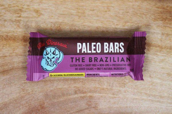 Blue Dinosaur Brazilian Paleo Bar 45g Pantry > Granola, Cereal, Oats & Bars