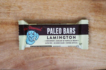 Blue Dinosaur Lamington Paleo Bar 45g Pantry > Granola, Cereal, Oats & Bars