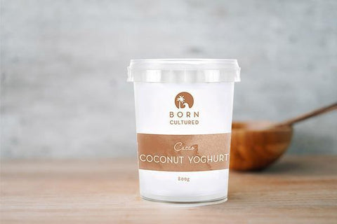 Born Cultured Cocoa Coconut Yoghurt 500g