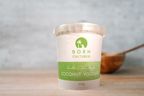 Born Cultured Vanilla Bean Coconut Yoghurt 800g
