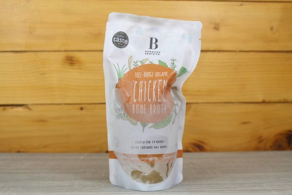 Borough Broth Free Range Organic Chicken Bone Broth 324g Pantry > Broths, Soups & Stocks