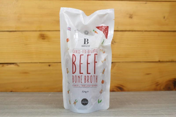 Borough Broth Grass Fed Organic Beef Bone Broth 324g Pantry > Broths, Soups & Stocks