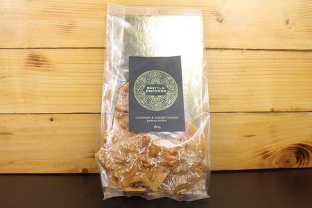 Brittle Empress Coconut & Cardamom Peanut Brittle 180g Pantry > Confectionery