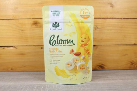 Brookfarm Bloom Organic Smooth Banana 120g Pantry > Baby Food & Kids Corner