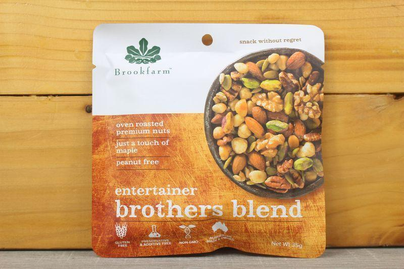 Brookfarm Entertainer Brothers Blend Nuts 35g Pantry > Dried Fruit & Nuts