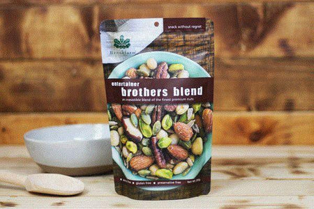 Brookfarm Gluten Free Entertainer Brothers Blend 200g Pantry > Dried Fruit & Nuts