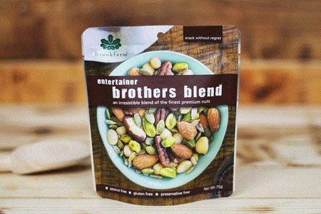 Brookfarm Gluten Free Entertainer Brothers Blend 75g Pantry > Dried Fruit & Nuts
