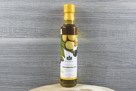 Brookfarm Lemon Myrtle Macadamia Oil 250ml Pantry > Dressings, Oils & Vinegars