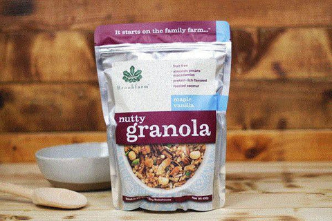Brookfarm Maple Vanilla Nutty Granola 450g Pantry > Granola, Cereal, Oats & Bars