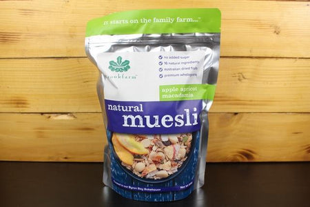 Brookfarm Natural Apricot Muesli 500g Pantry > Granola, Cereal, Oats & Bars