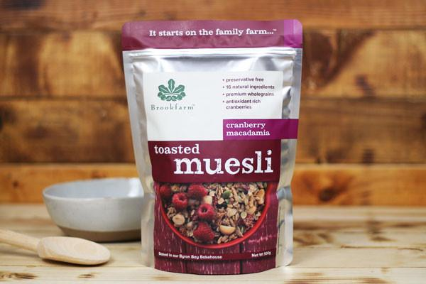 Brookfarm Toasted Cranberry Muesli 500g Pantry > Granola, Cereal, Oats & Bars