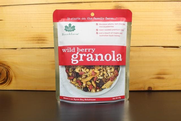 Brookfarm Wild Berry Granola 45g Pantry > Granola, Cereal, Oats & Bars