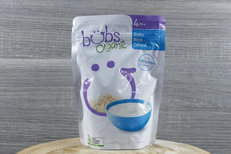 Bubs Bubs Org Baby Rice Cereal 125g Pantry > Baby Food & Kids Corner