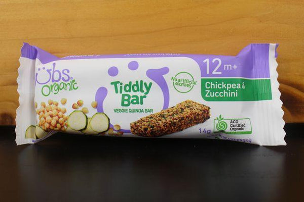Bubs Chickpea & Zucchini Tiddly Bites 14g Pantry > Baby Food & Kids Corner