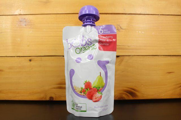 Bubs Strawberry, Pear & Quinoa 120g Pantry > Baby Food & Kids Corner