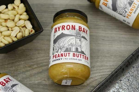 Byron Bay Peanut Butter Chunky Unsalted 375g Pantry > Nut Butters, Honey & Jam