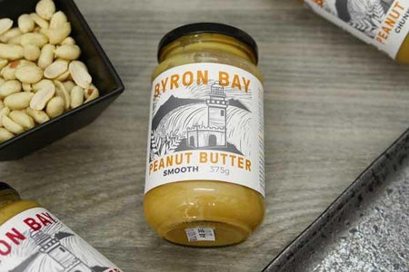 Byron Bay Peanut Butter Smooth Salted 375g Pantry > Nut Butters, Honey & Jam