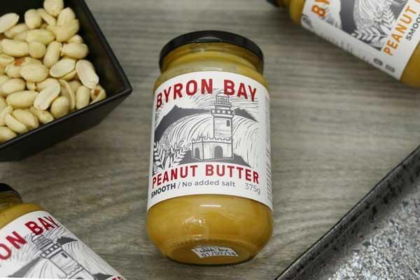 Byron Bay Peanut Butter Smooth Unsalted 375g Pantry > Nut Butters, Honey & Jam