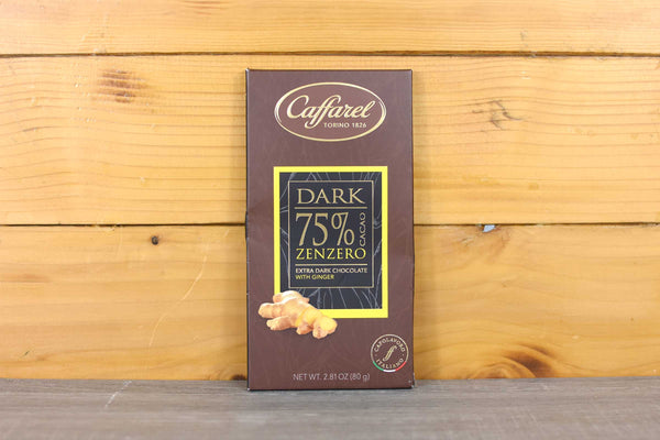Caffarel 75% Ginger Extra Dark Chocolate 80g Pantry > Antipasto, Pickles & Olives