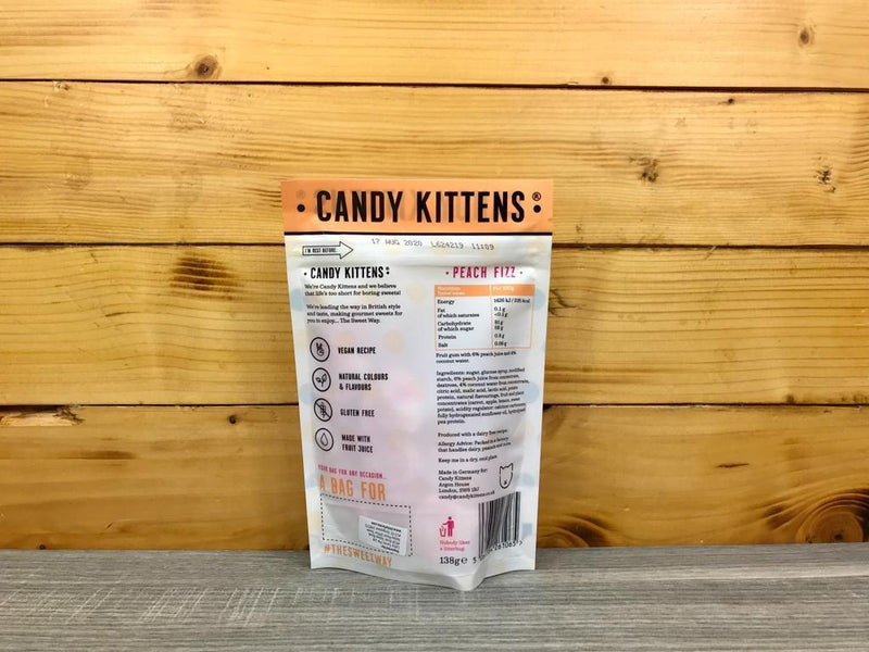 Candy Kittens Candy Kittens Peach Fizz 138g Pantry > Confectionery
