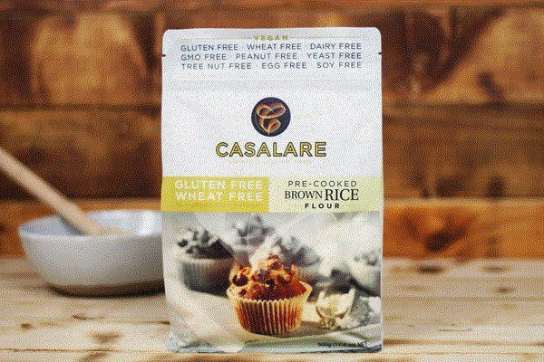 Casalare Gluten Free Brown Rice Pre-cooked Flour 500g Pantry > Baking & Cooking Ingredients
