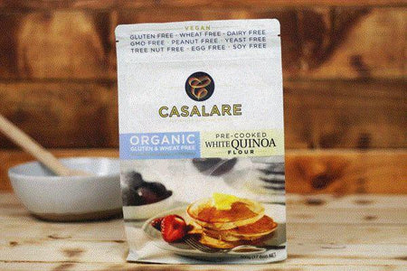 Casalare Gluten Free Organic White Quinoa Pre-cooked Flour 500g Pantry > Baking & Cooking Ingredients
