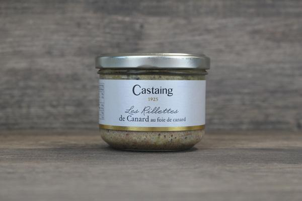 Castaing Castaing Duck Rillettes with Foie Grass Pantry > Canned Goods
