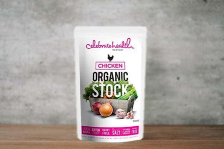 Celebrate Health Organic Chicken Stock 500ml Pantry > Broths, Soups & Stocks