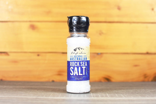 Chef's Choice Natural Australian Rock Sea Salt with Grinder 200g Pantry > Baking & Cooking Ingredients