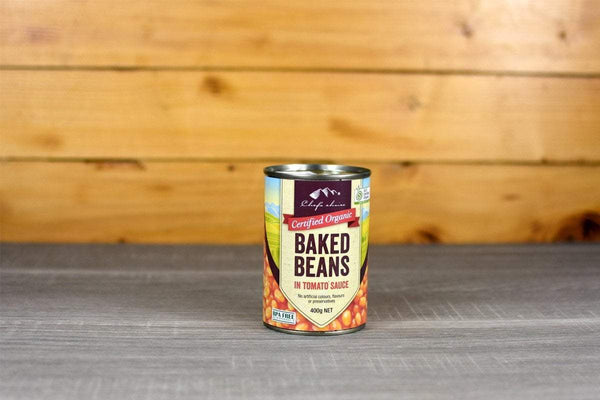 Chef's Choice Organic Baked Beans Tomato sauce 400g Pantry > Canned Goods