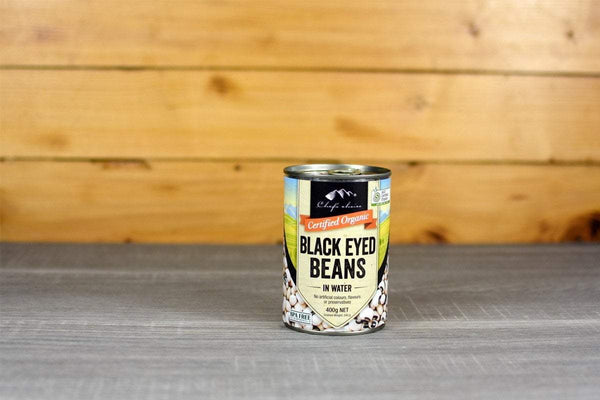 Chef's Choice Organic Black Eyed Beans in water 400g Pantry > Canned Goods