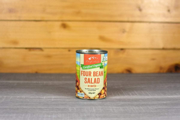 Chef's Choice Organic Four Bean Salad in Water 400g Pantry > Canned Goods