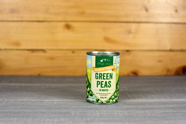 Chef's Choice Organic Green Peas in water 400g Pantry > Canned Goods
