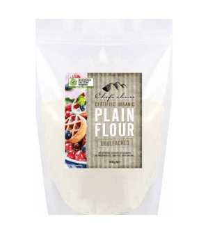 Chef's Choice Organic Unbleached Plain Flour 500g Pantry > Baking & Cooking Ingredients