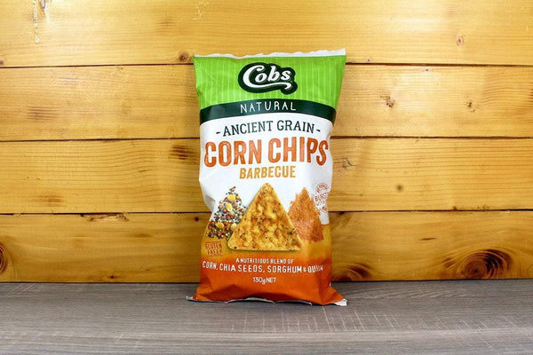 Cobs Ancient Grain Chips BBQ 130g Pantry > Chips & Savoury Snacks
