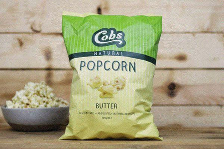 Cobs Natural Butter Popcorn 100g Pantry > Cookies, Chips & Snacks