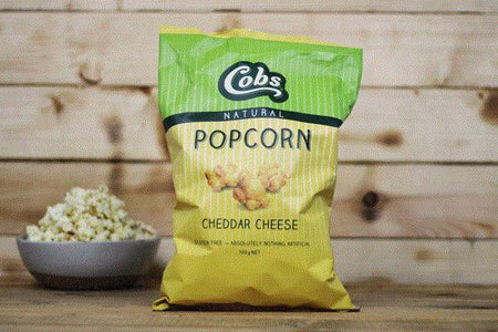 Cobs Natural Cheddar Cheese Popcorn 100g Pantry > Cookies, Chips & Snacks